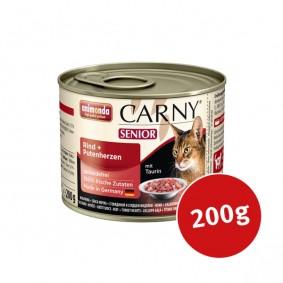 Animonda Katzen-Nassfutter Carny Senior Rind und Putenherzen