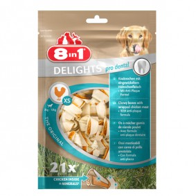 8in1 Delights pro dental Kauknochen XS 21 Stück