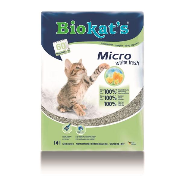 Biokat's Katzenstreu Micro White Fresh 14l