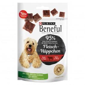 BENEFUL Fleisch-Häppchen Rind Hundesnack Beutel
