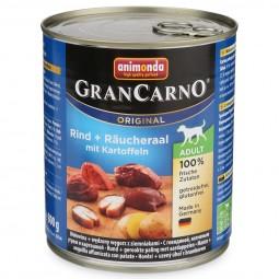 Animonda Hunde-Nassfutter GranCarno Adult Rind und Räucheraal mit Kartoffeln