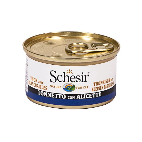Schesir Katzenfutter in Gelee Thunfisch mit kleinen Sardellen