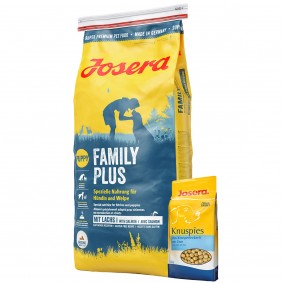 Josera Hundefutter FamilyPlus 15kg + Josera Knuspies 1,5kg GRATIS