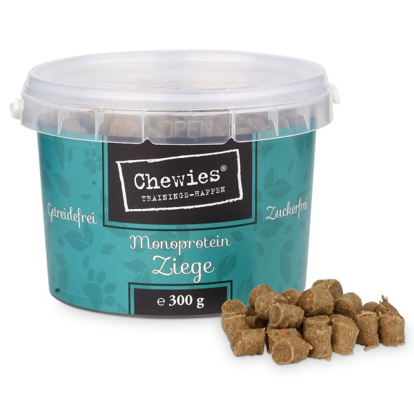 Chewies Hundesnack Trainings-Happen Ziege 300g