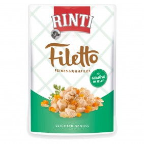 Finnern Rinti Filetto Huhn & Gemüse in Jelly - 24x100g
