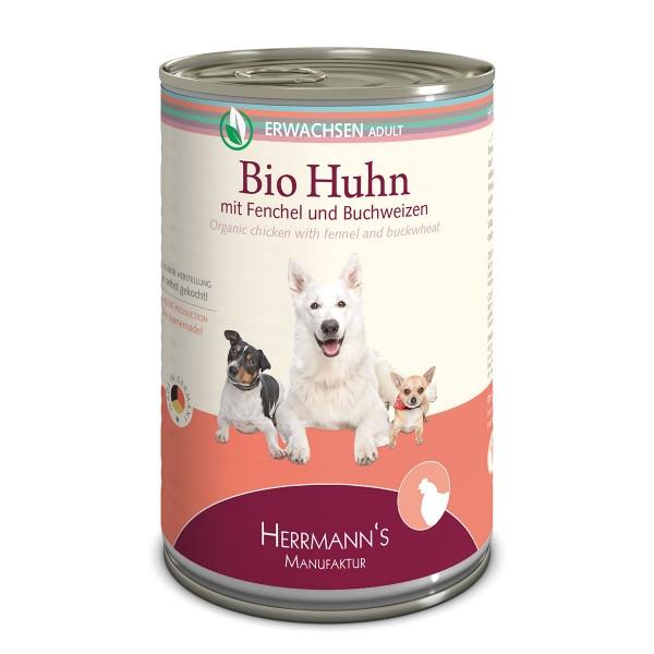 Herrmanns Bio Hundefutter Huhn mit Fenchel und Buchweizen 12x400g