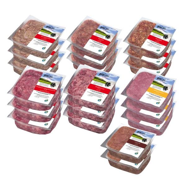 proCani Frostfutter Wochenpaket pur 20x400g