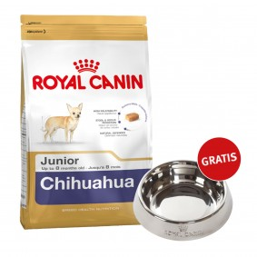 Royal Canin Chihuahua Junior 1,5kg + Edelstahlnapf silber gratis