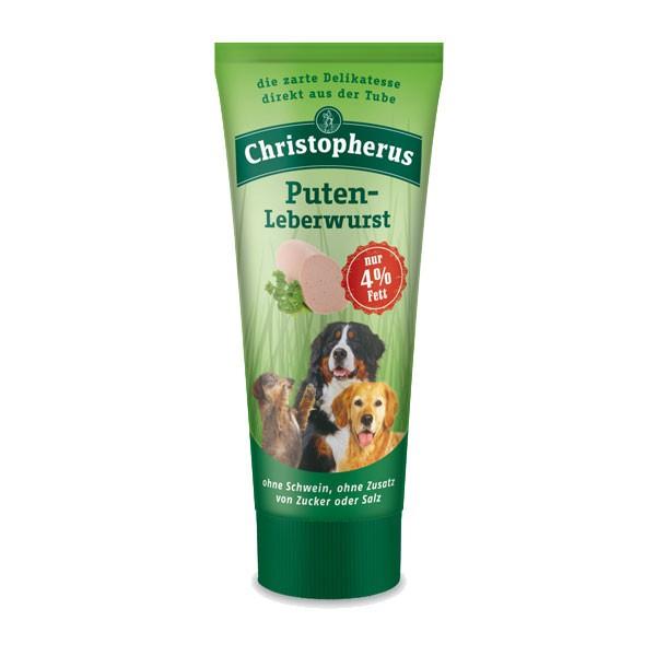 Christopherus Hundesnack Putenleberwurst 75g