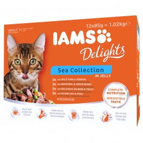 Iams Delights Multipack Sea Collection in Gelee 12x85g