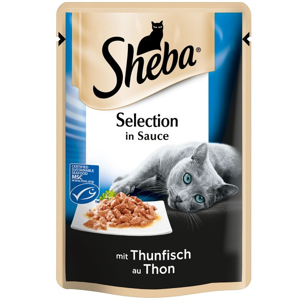 Sheba Katzenfutter Selection in Sauce Thunfisch (MSC)