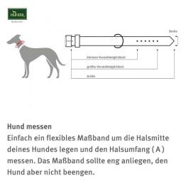 Hunter Halsband Softie - Rot / Schwarz