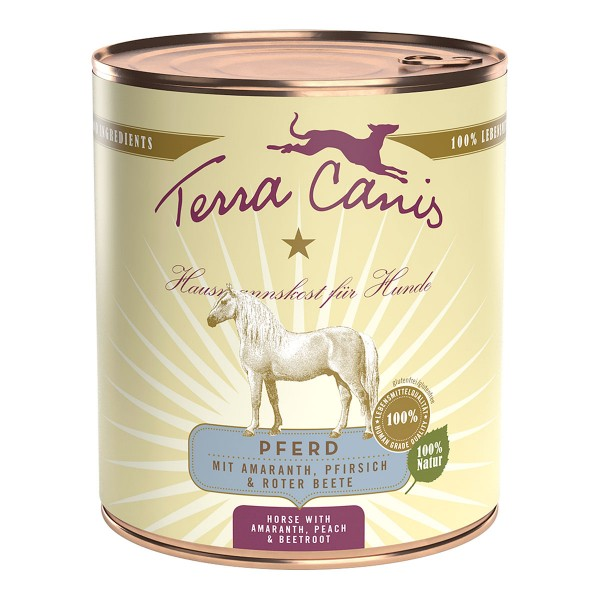 Terra Canis CLASSIC – Pferd mit Amaranth, Pfirsich und Roter Bete