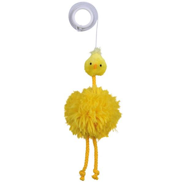 Trixie Plüsch-Huhn am Gummiband