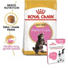 ROYAL CANIN Feline Health Nutrition Kitten Maine Coon 4kg + ROYAL CANIN Willkommens-Box Kitten