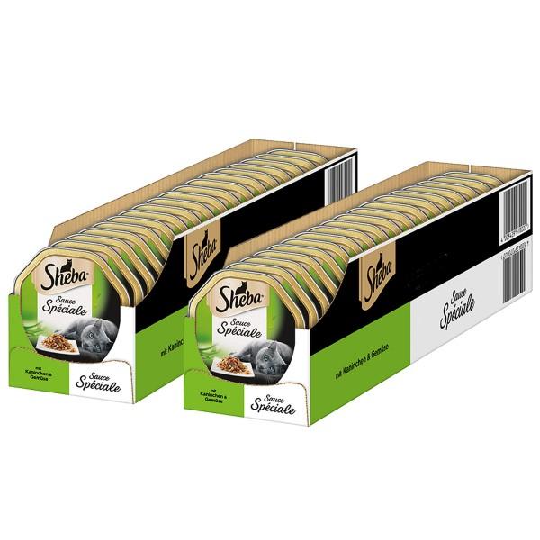 Sheba Katzenfutter Sauce Speciale Kaninchen & Gemüse in Sauce 44x85g