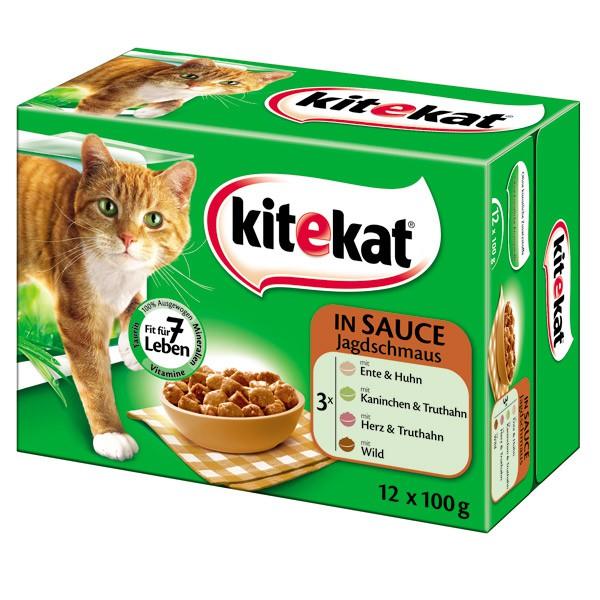 Kitekat - Aliment pour chats en sachets 12 x 100 g