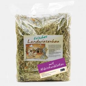 Naturhof Schröder Landwiesen Heu locker gestopft m. Hibiskus 500 g
