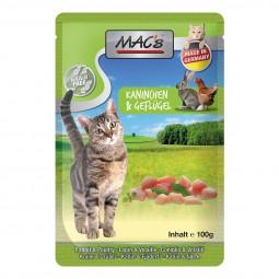 MAC's Cat Katzenfutter Pouchpack Kaninchen, Geflügel und Löwenzahn