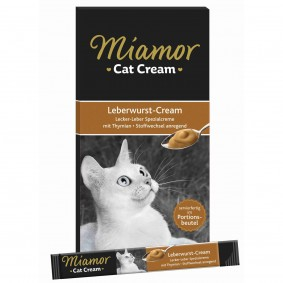 Miamor Cat Snack Cream Leberwurst 6x15g