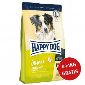 Happy Dog Supreme Young Junior Lamm & Reis 4kg + 1 kg GRATIS