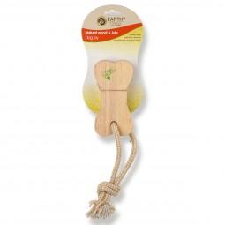 Earthy Pawz Holz Hundespielzeug Miniknochen