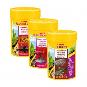 Sera Probierpaket FD Artemia + Rote Mückenlarven + Tubifex 100ml