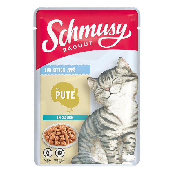 Schmusy Ragout für Kitten mit Pute in Sauce