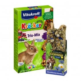 Vitakraft Kräcker mit JR Farm Nagersnack Probierpaket