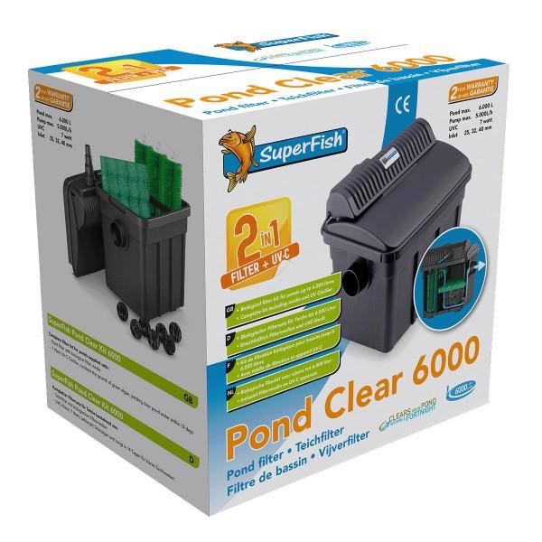 SuperFish PondClear Teichfilter mit UVC Filteru...