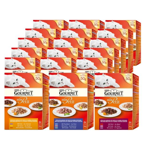 Gourmet Mon Petit Katzenfutter 90x50g Mega-Mixpaket