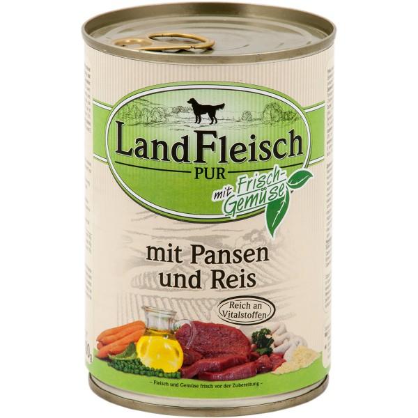 Landfleisch Pur Landfleisch Hundefutter Dog Pur Pansen & Reis 12x400g