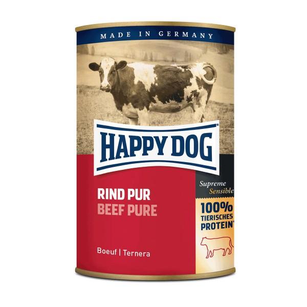 Happy Dog Hundefutter Rind Pur 24x400g