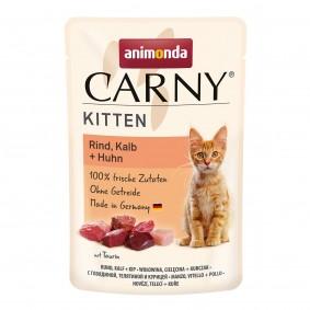 Animonda Carny Kitten mit Rind, Kalb und Huhn