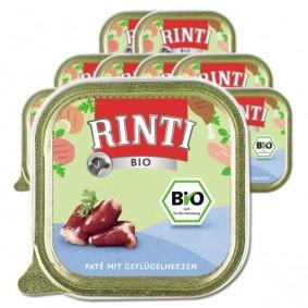 Rinti Bio Hundefutter Pate mit Geflügelherzen 150g