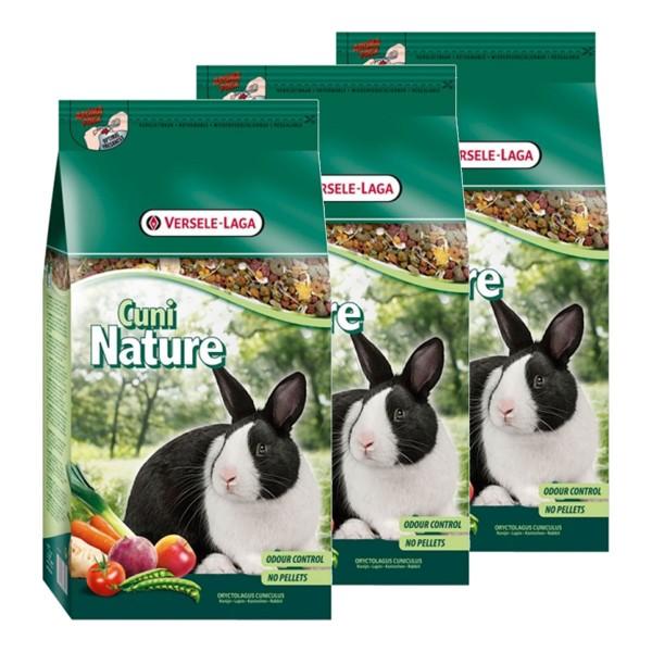 Versele Laga Kaninchenfutter Premium Cuni Nature 3x2,5kg