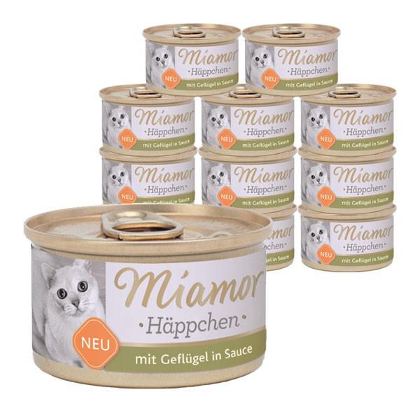 Miamor Häppchen mit Geflügel in Tomatensauce 24x85g