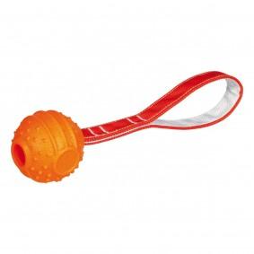 Trixie Soft & Strong míček na pásku, oranžový