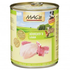 MAC's Dog Hunde-Nassfutter Hühnchen und Lamm