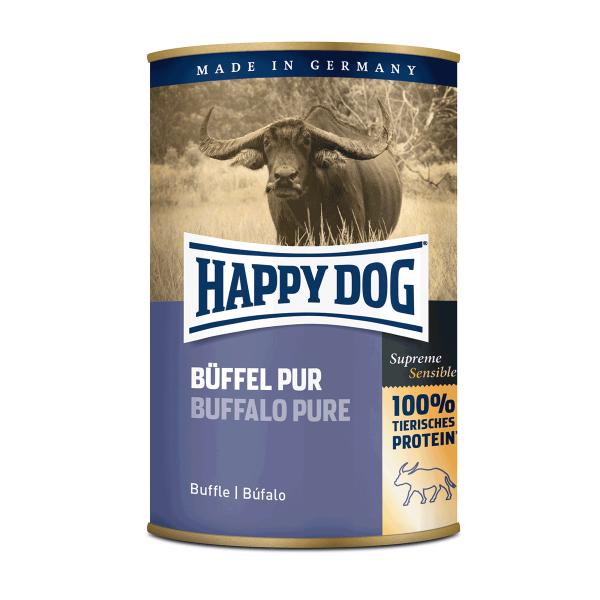 Happy Dog Hundefutter Büffel Pur 24x400g