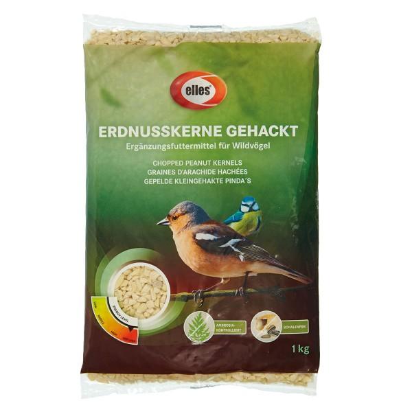 Haustier: elles Wildvogelfutter Erdnusskerne gehackt 1 kg