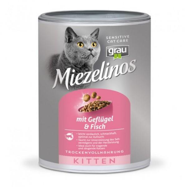 Haustier Angebot: Grau Miezelinos Kitten mit Geflügel und Fisch – 400g