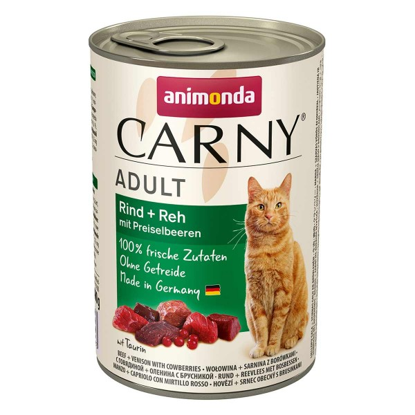 Animonda Katzen-Nassfutter Carny Adult Rind, Reh & Preiselbeeren