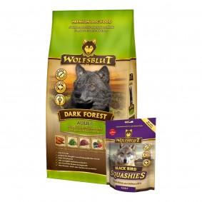 Wolfsblut Dark Forest Wild 15kg + Wolfsblut Squashies Black Bird 300g gratis