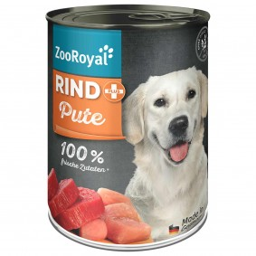 ZooRoyal Rind + Pute Hundefutter 400g