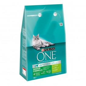 Purina One Bifensis Indoor Formula Truthahn und Vollkorn-Getreide 3kg