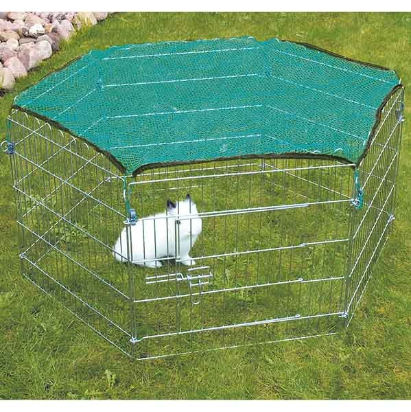 Trixie Freilaufgehege mit Netz für Kleintiere, verzinkt