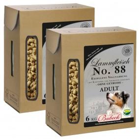 Bubeck Hundefutter Trockenfutter Wild, Lamm, Pferd, Ente 2x6 kg No. 88 Lammfleisch mit Kartoffel &am