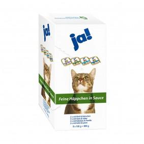 ja! Katzenfutter Adult Feine Häppchen in Sauce 8x100g