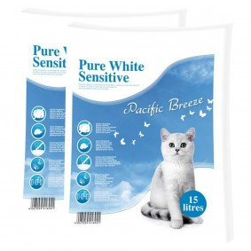 Europet Bernina Pure White Sensitive Katzenstreu 2x15l